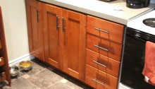 Renovation de la cuisine - armoires et comptoir