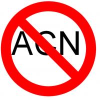Lettre ACN supperposé image interdit