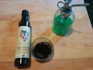 Vinaigre balsamique + savon de vaiselle
